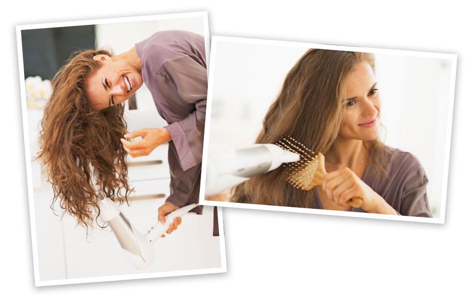 Billede af hvordan man føntørre hår