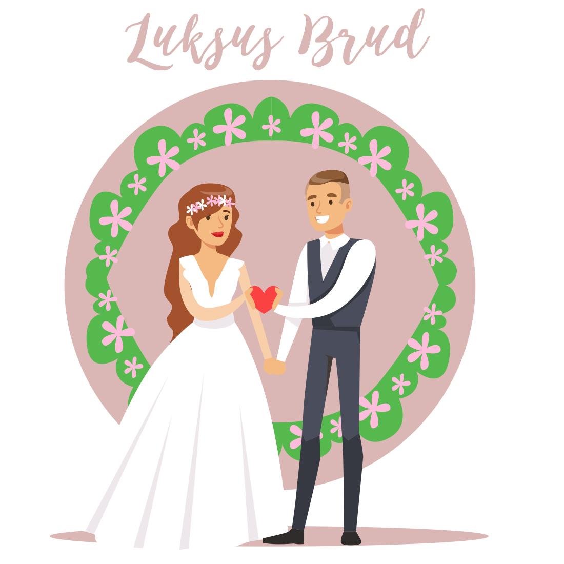 brudepakke med invitationer bryllupshår negle shellac